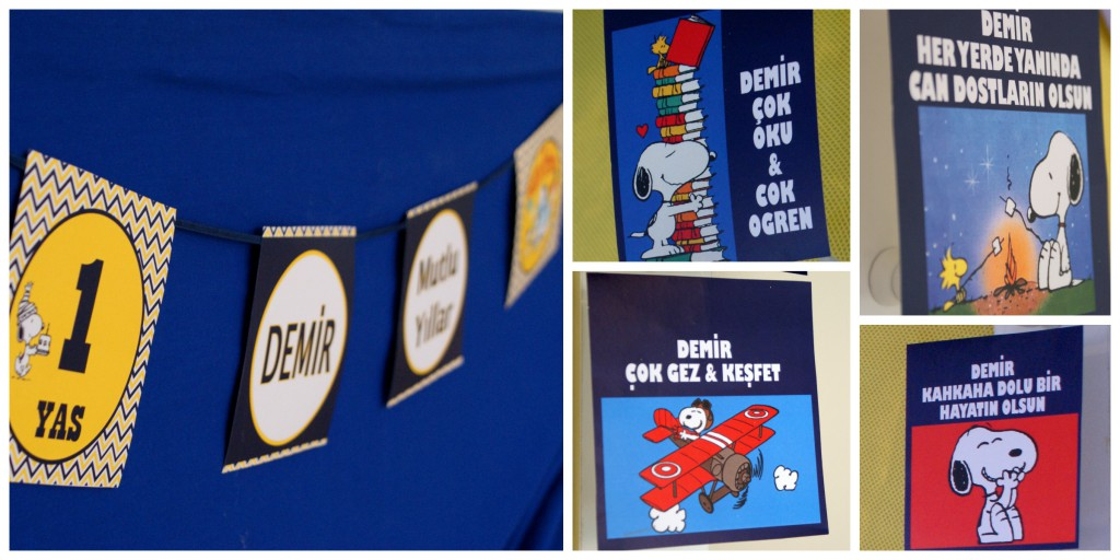 Snoopy Parti - Demir için dileklerimiz - Bulut parti