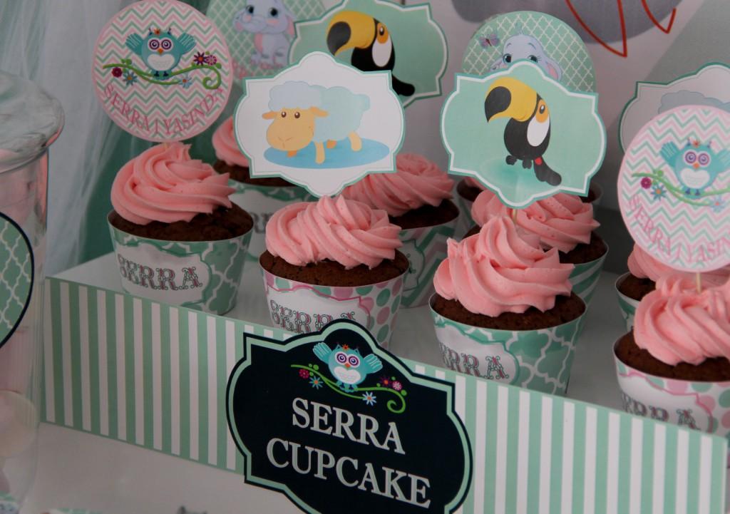 Bebek doğum günü organizasyon cupcake
